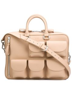 Shop Valas multi-pockets briefcase on Farfetch Hong Kong and take advantage of fast delivery and free returns. Leather Briefcase, Leather Bag, Laptop Bag For Women, Natural Leather, Designer, Purses And Bags, Satchel, Polyvore, Pockets