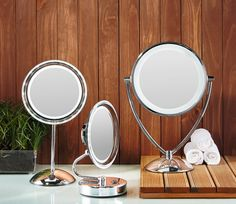 Who is the fairest of them all? Easy to check when you have one of the beautiful NEW  range of LED mirrors.  Battery operated, the LED lighting is natural, bright and long lasting.