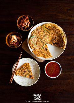 My favorite Korean dish of all time!  Kimchi Pajeon