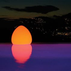 Hawaiian sunset? Nope, an LED mood light you can float or place anywhere.