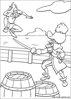 peter pan coloring page - Peter Pan Coloring Pages Print