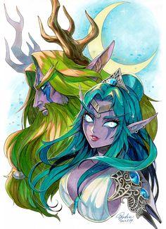 World Of Warcraft Game, Warcraft Art, Character Inspiration, Character Art, Character Design, World Of Wacraft, Illidan Stormrage, Night Elf, Alien Races
