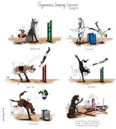 Improving our horse jump! Hahaha