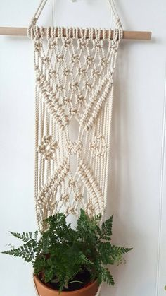 Macrame Plant Hanger by KnotOver on Etsy