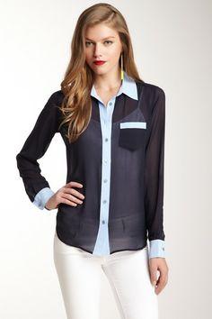 EQUIPMENT Brett Colorblock Silk Shirt by Non Specific on @HauteLook