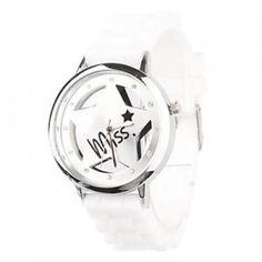 Weiß Damen Quarz Armbanduhr -Star Design