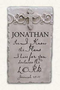 Isaiah 431 personalized name plaque isaiah 43 crafts and personalized name plaque joshua negle Images