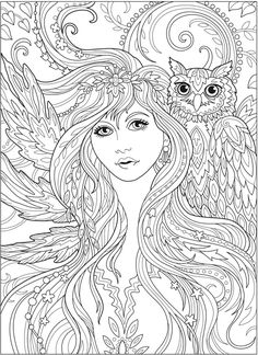 Free Printable Coloring Book Pages Awesome Wel E to Dover Publications Fairy Coloring Pages, Printable Adult Coloring Pages, Animal Coloring Pages, Coloring Pages To Print, Coloring Books, Adult Colouring Pages Free, Coloring Sheets, Valentines Day Coloring Page, Bunt