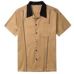 Mens Bowling Shirts, Vintage Bowling Shirts, Club Shirts, Work Shirts, Casual Mode, Men Casual, Rockabilly Outfits, Rockabilly Clothing, Rockabilly Style