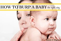 Do you have a baby that is difficult to burp? Don't worry it's completely normal! I've got a little one that sometimes has a really hard time too. Sometimes my baby even falls asleep before I have the chance to burp her. Burping Baby, Gassy Baby, Newborn Baby Needs, Newborn Baby Tips, Baby Wish List, Baby List, Baby Wont Burp, Dunstan Baby Language, Baby Life Hacks