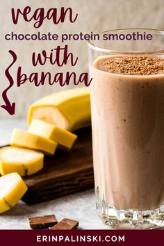 This chocolate protein smoothie is such a quick and healthy breakfast option! By using non dairy milk we keep it vegan friendly and by using nut butter, the flavor is amazing plus added protein!