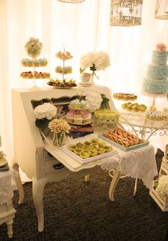 Mr & Mrs Luong's Shabby Chic Dessert table Well, we did this long before shabby chic was a thing