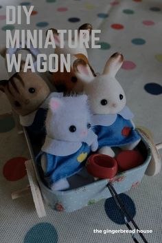 Simple tutorial for a DIY miniature wagon for Sylvanian Families or Calico Critters