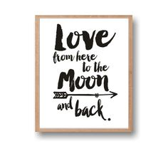 North Pole, Love Art, Christmas Wall Art, Love from here to the North Pole and back by Paffle Christmas Wall Hangings, Christmas Wall Art, Moon Quotes, Pole Art, Nursery Art, Nursery Ideas, Moon Print, What Inspires You, North Pole