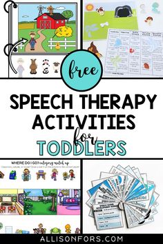 A roundup of FREE speech therapy activities for toddlers and preschoolers. Download free printables, activities, and handouts kids will love. Various resources for SLPs, special educators, and parents that target articulation, basic concepts, language stimulation, vocabulary, listening skills, and more. Be sure to grab my FREE farm interactive book. Aba Therapy Activities, Preschool Speech Therapy, Articulation Therapy, Speech Language Therapy, Speech Therapy Activities, Speech And Language, Learning Activities, Preschool Activities, Listening Skills