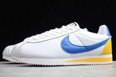 2020 Nike Classic Cortez Leather White/Game Royal-Yellow 905614-105 Nike Classic Cortez Leather, Nike Shoes, Sneakers Nike, Nike Cortez, Game, Yellow, Boots, Nike Tennis, Nike Tennis