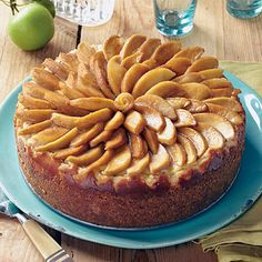 Caramel-Apple Cheesecake | Everything about this cheesecake is delicious—from the cinnamon graham cracker crust to the apple jelly-glazed apples on top.