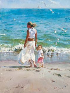 Garmash Artist - M I Garmash Artwork - Ocean for Two by Garmash
