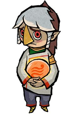 View an image titled 'Negative Prince Komali Art' in our The Legend of Zelda: The Wind Waker HD art gallery featuring official character designs, concept art, and promo pictures. Character Concept, Character Art, Concept Art, Character Creation, The Legend Of Zelda, Wind Waker, Link Art, Hyrule Warriors, Dungeons And Dragons Characters