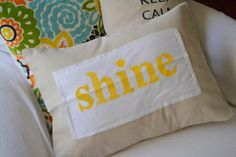 Great idea to sew regular fabric onto burlap... don't like what they did here but the idea shines