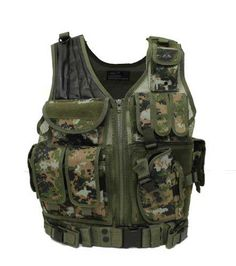 Airsoft Vest Holster Marine Digital Camo