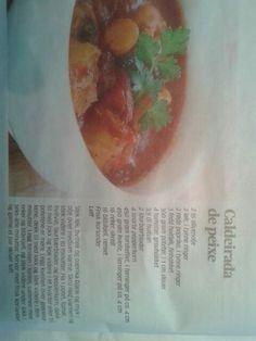 Portugisisk fiskesuppe Frisk, Fresh Rolls, Tableware, Ethnic Recipes, Food, Cilantro, Dinnerware, Tablewares, Essen