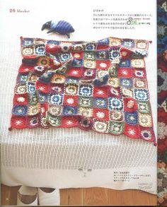 ISSUU - Crochet motif by vlinderieke Picnic Blanket, Outdoor Blanket, Crochet Motif, Geometry, Coin Purse, Wraps, Carpet, Sewing, Knitting