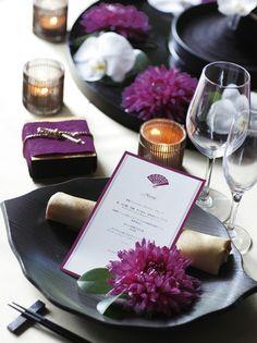 和装 結婚式 コーディネート 紫 japanese wedding coordinate purple