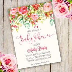 Shabby Chic Baby Shower Invitation Template Edit With Adobe Reader - It's a girl baby shower invitation templates
