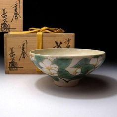 ND8-Japanese-Tea-Bowl-Kyo-Ware-by-Famous-Potter-Yoshihide-Dobuchi-Camellia about 35 years ago.