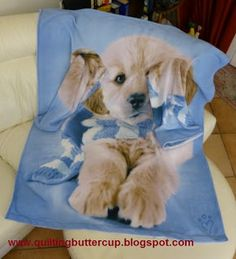 Quilting Buttercup: How to make a blanket with sleeves