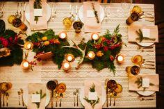 Love the antler decor for a bohemian winter wedding | Rebekah J. Murray Photography