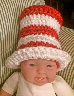 Crochet Dr Seuss Hat Leg Warmer set available by ThePoseyPatch ... e72c0f84a6df