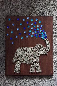 Elephant String Art by ComePaintAway on Etsy: