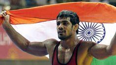 Sushil Kumar in Semifinals London Olympics 2012 wrestling