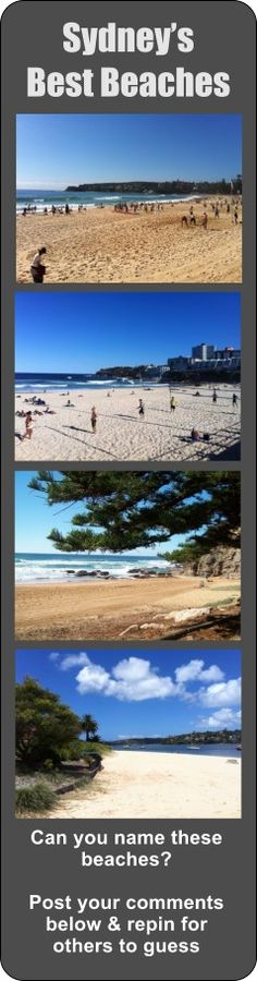 What are Sydney's best beaches?  Can you guess where these pics were taken?