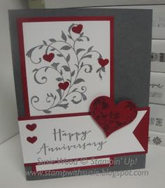 Stampin' Up!- It's a beautiful anniversary card using the set- 'First Sight' & 'Timeless Love'!