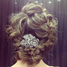 Messy braided updo by Farouk Systems Artist Anna Cantu #CHI
