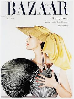 Harper's Bazaar cover photographed by Louise Dahl-Wolfe, April 1953.