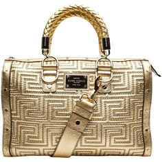 VERSACE Stitching couture bag ($2,645) ❤ liked on Polyvore