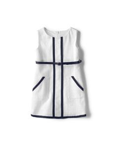 White dress with blue belt_US$39.90
