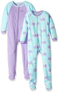 Gerber Toddler Girls 2 Pack Blanket Sleeper, elephants, 3T