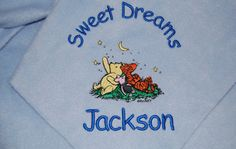 Custom Baby Blanket Personalized Baby Gift by Dana Marie Creations, $17.00