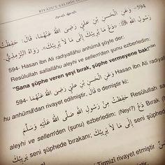 Sana şüphe vermeyene bak!  #şüphe #hadis #riyâzûssâlîh #riyazussalihin  #hadisler #islam #istanbul #ilmisuffa