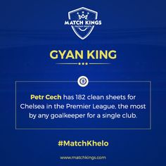Former Chelsea Football Club and current Arsenal keeper Petr Cech has an impressive record to his name!  Pick your Gameweek 23 teams now on www.matchkings.com!  #MatchKhelo #COYG #Emirates #AFC #Arsenal #fpl #pl #chelsea #ktbffh #cfc