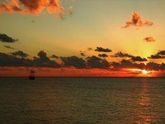 Sunset in Grand Cayman, Cayman Islands