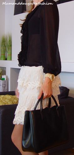 Lace and silk. www.mumanddaughterfashion.blogspot.fi