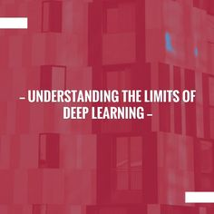Love a good read? Grab your cuppa for this one. ☕️ Understanding the limits of deep learning http://optimizingmind.com/understanding-the-limits-of-deep-learning/?utm_campaign=crowdfire&utm_content=crowdfire&utm_medium=social&utm_source=pinterest