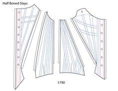 18th Century Stays: Boning Patterns ~ American Duchess
