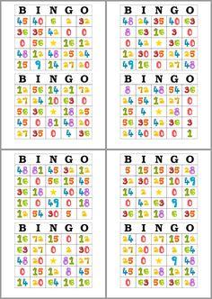 Tarjetas de Bingo para Imprimir